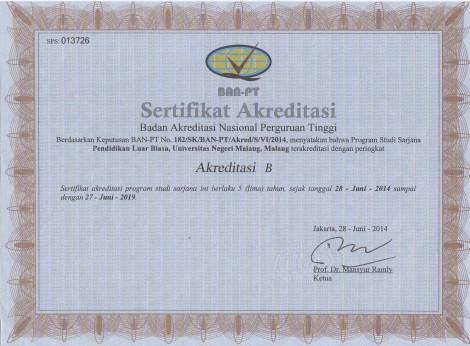 Akreditasi Jurusan PLB FIP UM